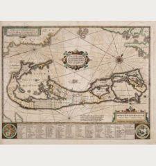 Mappa Aestivarum Insularum, alias Barmudas Dictarum ... Accurate Descripta