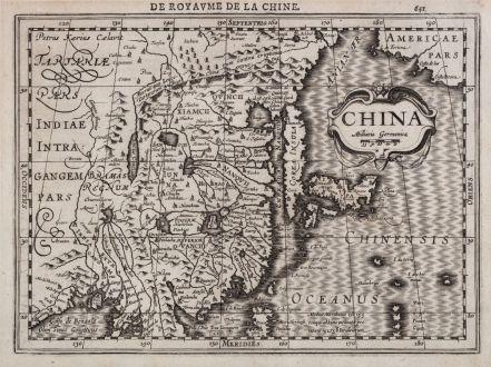 Antique Maps, Mercator, China, 1630-36: China