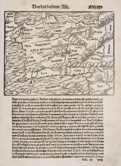 Antique Maps, Münster, Turkey, Asia Minor, 1550: [Asia Minor]