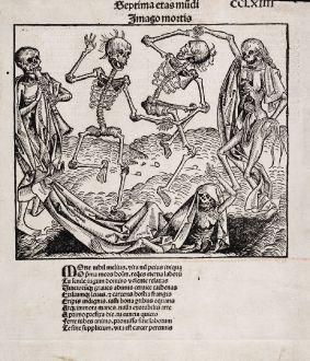 Graphics, Schedel, Death dance, danse macabre, 1493: Imago Mortis