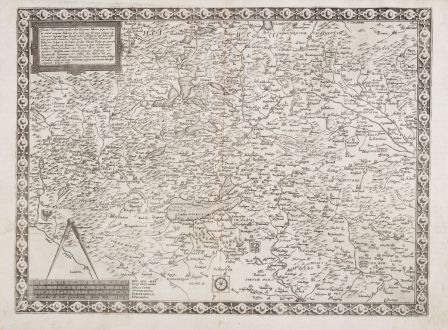 Antique Maps, de Jode, Switzerland, 1569 (1578): Tractus Rhenanus multos olim Romanus... occupant Helvetij, olim Gall., nunc Alemani