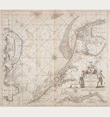 Paskaart van het Zuyderdeel van de Noord Zee streckende van de Wester Eems tot aan de Hoofde... C.J. Vooght
