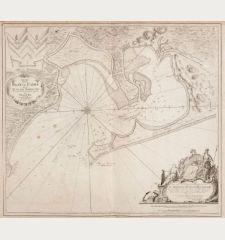 Kaart van de Baay van Cadix met de Plans der Fortificatien. Ten Dienst der Zeevaart opgesteld door William May, Luit. ter...
