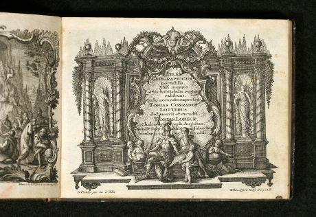 Atlanten, Lotter, Atlas, 1762: Atlas Geographicus portatilis XXIX mappis orbis habitabilis regna exhibens ... Kurzgefasste Geographie
