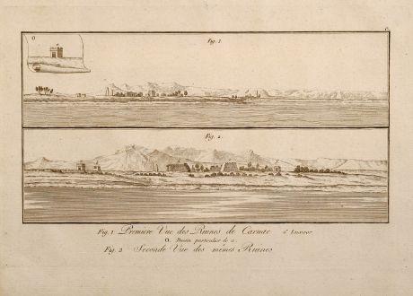Antike Landkarten, Norden, Ägypten, Pyramiden, Ägypten, 1795: Premiere Vue des Ruines de Carnac