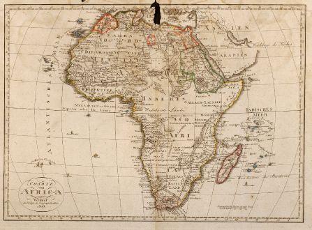 Antike Landkarten, Geographisches Institut Weimar, Afrika Kontinent, Afrika: Charte von Africa