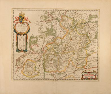 Antique Maps, Blaeu, Poland, Glogau, Glogow, Lower Silesia, 1640: Ducatus Silesiae Glogani Vera Delineatione
