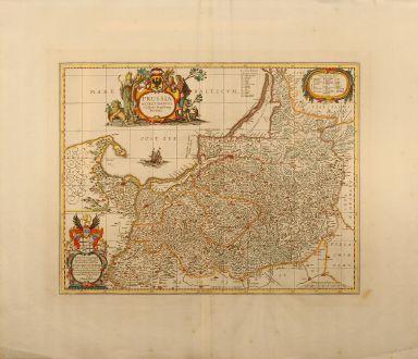 Antike Landkarten, Pitt, Polen, Ostpreussen, 1680: Prussia accurate descripta