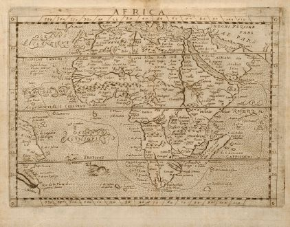 Antique Maps, Botero, Africa, 1640: Africa