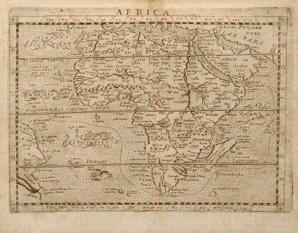Antike Landkarten, Botero, Afrika Kontinent, Afrika, 1640: Africa