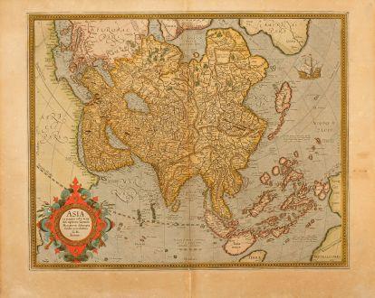 Antike Landkarten, Mercator, Asien Kontinent, 1613: Asia ex Magna Orbis Terre Descriptione Gerardi Mercatoris Desumpta, Studio et Industria G.M. Iunioris