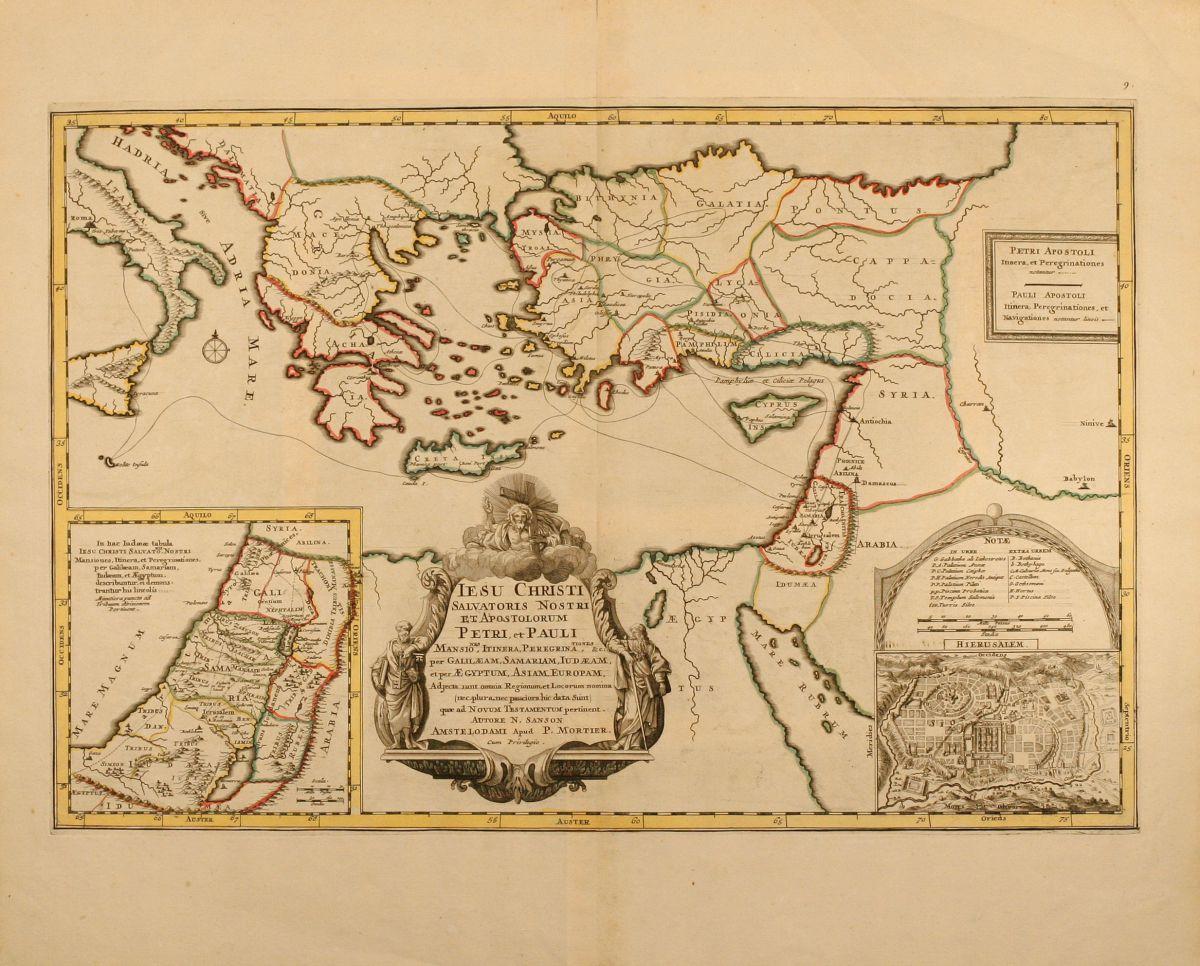 Iesu Christi Salvatoris Nostir Et Apostolorum Petri Et Pauli - Map of north america 1700