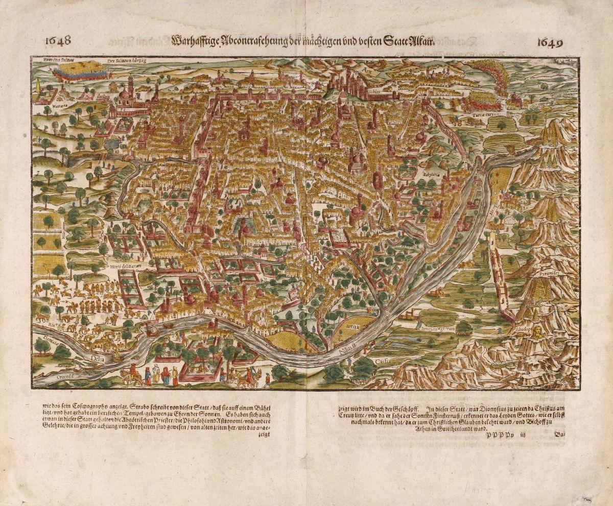 Warhaffte Abcontrafehtung Der Machtigen Und Vesten Statt Münster - Vintage map of egypt