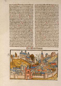 Antike Landkarten, Schedel, Griechenland, Makedonien, 1497: De Macedonia
