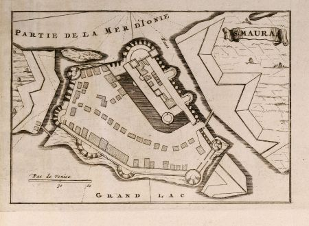 Antike Landkarten, Mortier, Griechenland, Lefkas, St. Maura, 1705: S. Maura