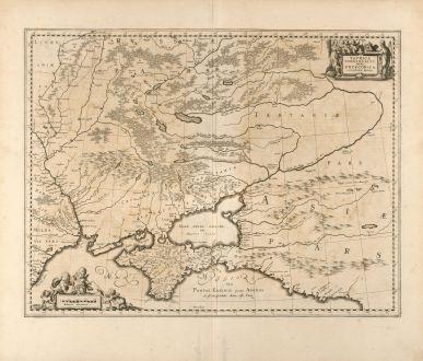 Antique Maps, Pitt, Russia, Ukraine, Crimea, 1680: Taurica Chersonesus, Hodie Przecopsca, et Gazara dicitur.