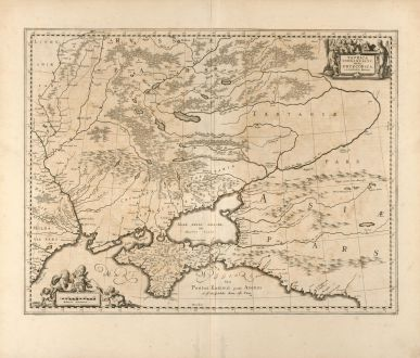 Antike Landkarten, Pitt, Russland, Ukraine, Krim, 1680: Taurica Chersonesus, Hodie Przecopsca, et Gazara dicitur.