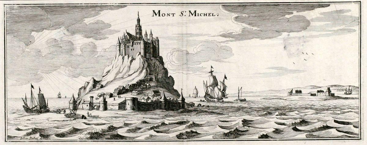 Mont St Michel Merian France Mont Saint Michel 1657