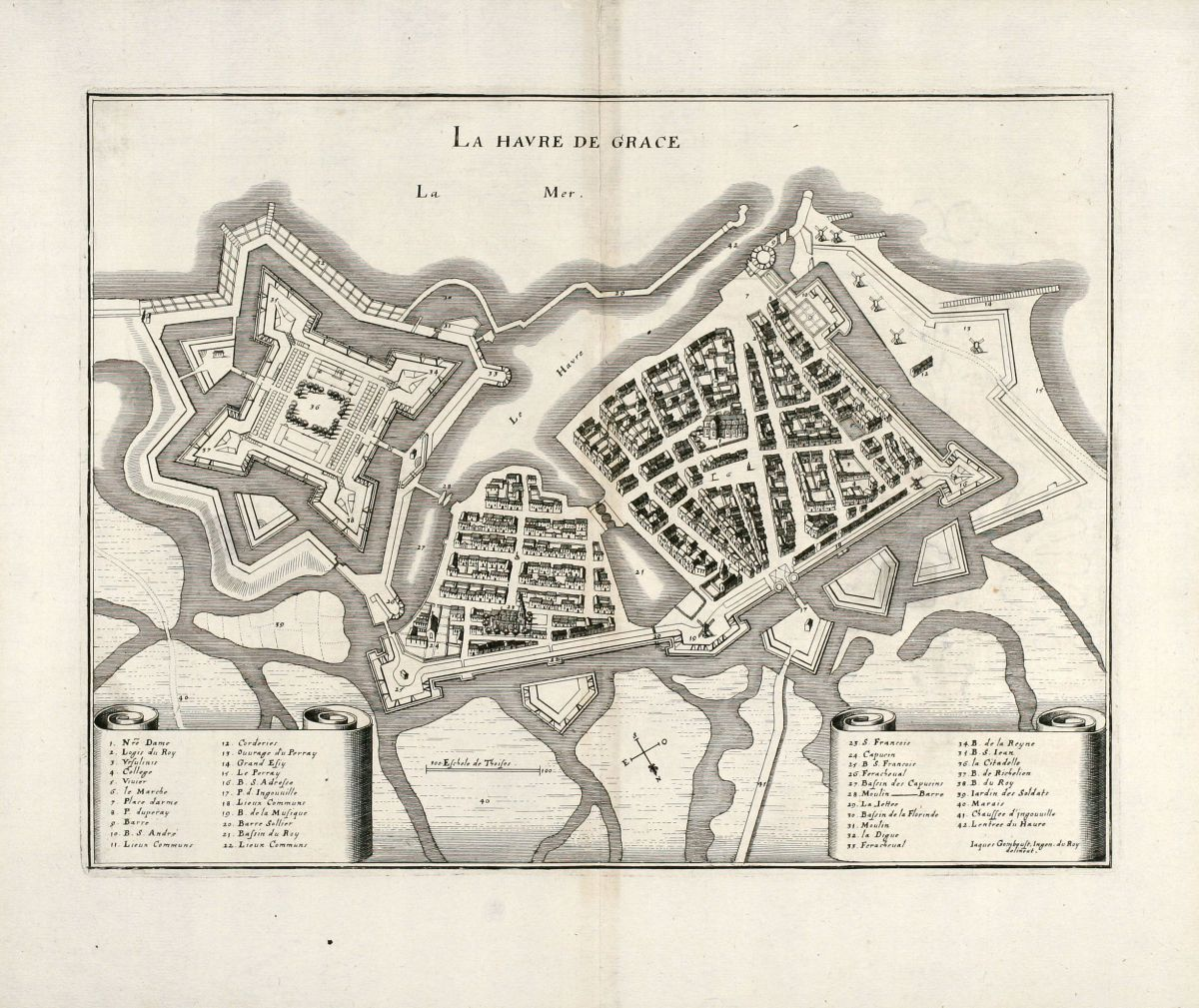 Map Of France Le Havre.La Havre De Grace Merian France Le Havre Normandy 1657
