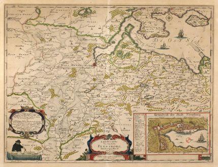 Antique Maps, Mejer, Germany, Flensburg, 1652: Landtcarte Vonn dem Ambte Flensborg, ohne Nordgoeßherde. Anno 1648.