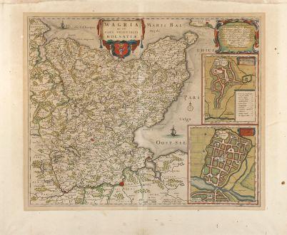 Antike Landkarten, Blaeu, Deutschland, Holstein, Oldenburg, 1662: Wagria, que est pars Orientalis Holsatiae