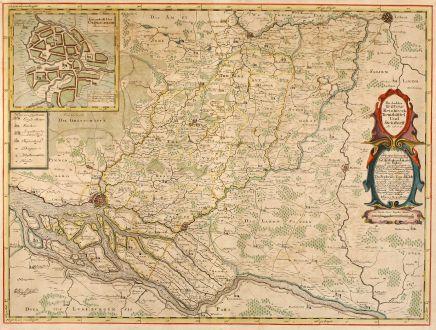 Antique Maps, Mejer, Germany, Hamburg, Oldeslohe, 1652: Die Ämbter Trittow, Reinbeeck, Tremsbüttel Und Steinhorst. Ao 1649.