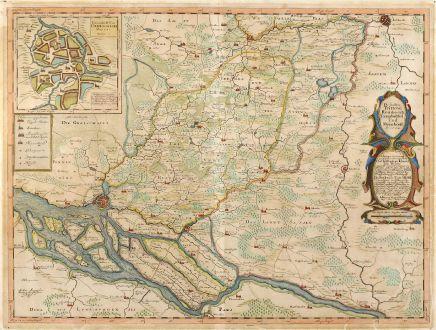 Antike Landkarten, Mejer, Deutschland, Holstein, Hamburg, Oldeslohe, 1652: Die Ämbter Trittow, Reinbeeck, Tremsbüttel Und Steinhorst. Ao 1649.
