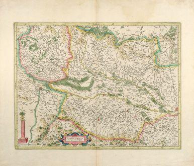 Antike Landkarten, Mercator, Frankreich, Elsass, Breisgau, Schwarzwald, 1630: Alsatia Superior cu Suntgoia & Brisgoia