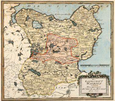 Antike Landkarten, von Reilly, Deutschland, Schleswig-Holstein, Wagrien, 1795: Die Landschaft Wagrien mit dem Hochstift Lübeck oder Eutin
