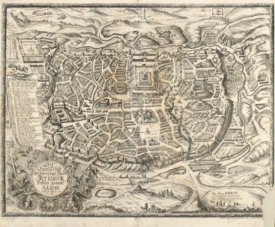 Antike Landkarten, Anonymous, Heiliges Land, Jerusalem, 1716: Die heylige und weitberühmte Stadt Jerusalem erstlich genant Salem