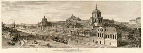 Antique Maps, de Lespinasse, Russia, Oranienbaum, Lomonosov, 1783: Vue d'Oranienbaum, Maison de plaisance de Sa Majesté Imperiale de toutes les Russies.