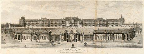 Antike Landkarten, de Lespinasse, Russland, Katharinenpalast, St. Petersburg: Maison de Plaisance De Sa Majesté Impérial de toutes les Russies