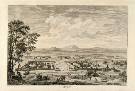 Antique Maps, de Lespinasse, Russia, Kyakhta, Kiakhta, 1783: Kiakta