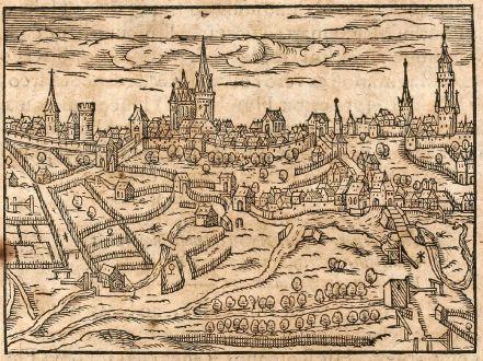 Antike Landkarten, Saur, Deutschland, Friedberg, 1608: Fridberga