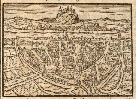 Antike Landkarten, Saur, Deutschland, Würzburg, 1608: Wirceburgum