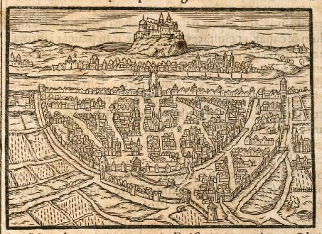 Antique Maps, Saur, Germany, Wuerzburg, 1608: Wirceburgum