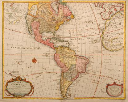 Antike Landkarten, de l Isle, Amerika Kontinent, 1763: Carte d'Amerique, dressee pour l'usage du Roy