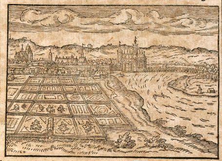 Antike Landkarten, Saur, Deutschland, Dresden, 1608: Dresda