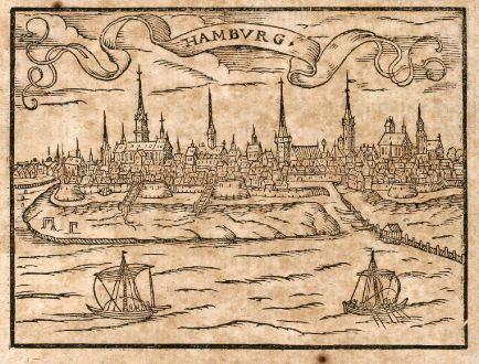 Antike Landkarten, Saur, Deutschland, Hamburg, 1608: Hambvrg