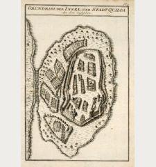 Grundriss der Insel und Stadt Quiloa