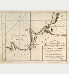 Karte von der Rheede von Benguela und dem Flusse Cantonbelle