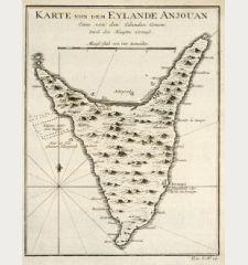 Karte von den Eylande Anjouan Eines von den Eylanden Comore