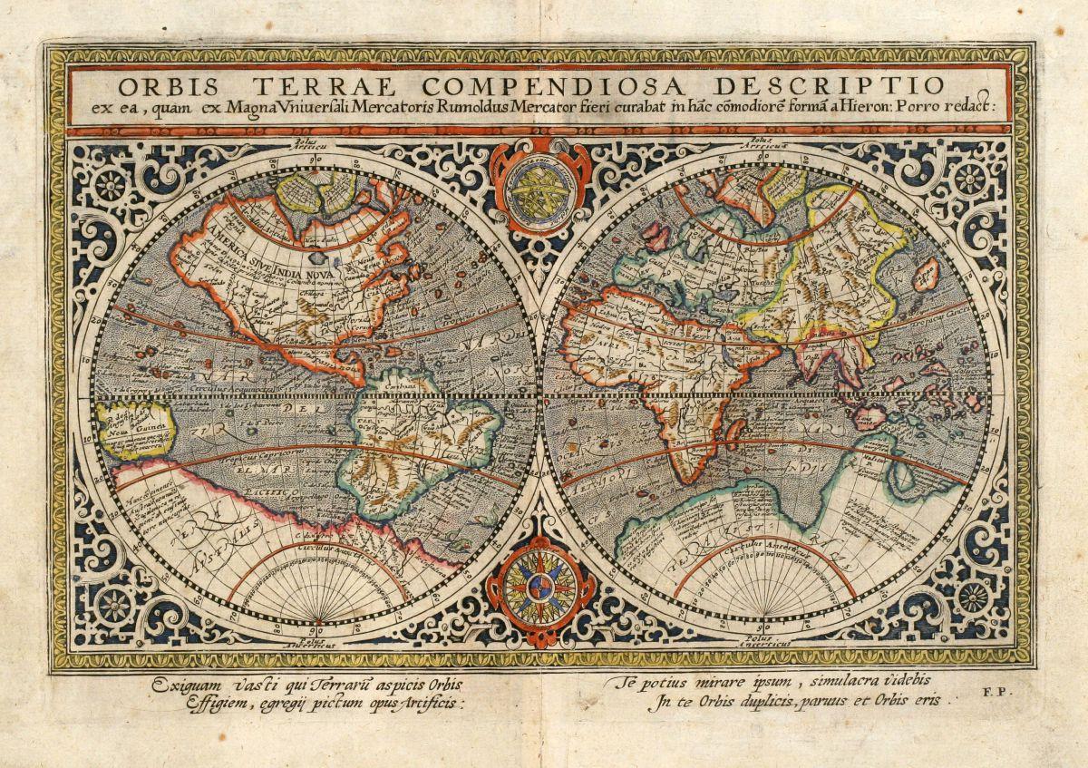 Orbis Terrae Compendiosa Descriptio Ex Rumoldus Mercator