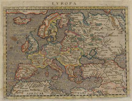 Antike Landkarten, Magini, Europa Kontinent, 1597 (1604): Europa