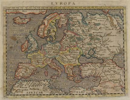 Antique Maps, Magini, Europe Continent, 1597 (1604): Europa