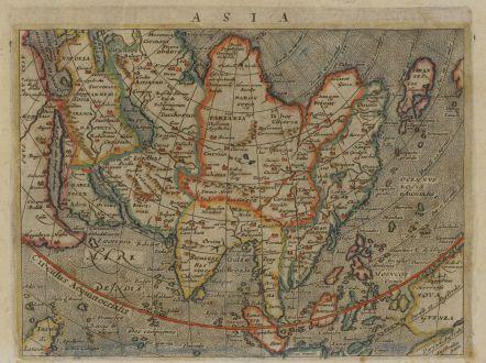 Antike Landkarten, Magini, Asien Kontinent, 1597 (1604): Asia