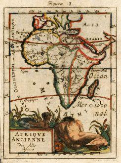 Antike Landkarten, Mallet, Afrika Kontinent, Afrika Antik, 1686: Afrique Ancienne, Das Alte Africa