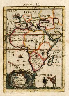 Antike Landkarten, Mallet, Afrika Kontinent, 1686: Afrique Moderne, Newes Africa