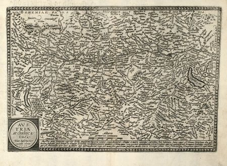 Antique Maps, Quad, Austria - Hungary, 1593: Austria Archiducatus