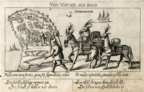 Antike Landkarten, Meissner, Nordafrika, Tunesien, Bone, 1638: Aphrodisium